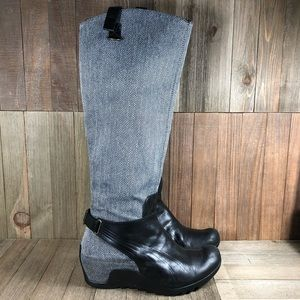 Puma Knee High Wedge Boots Womens Size 7
